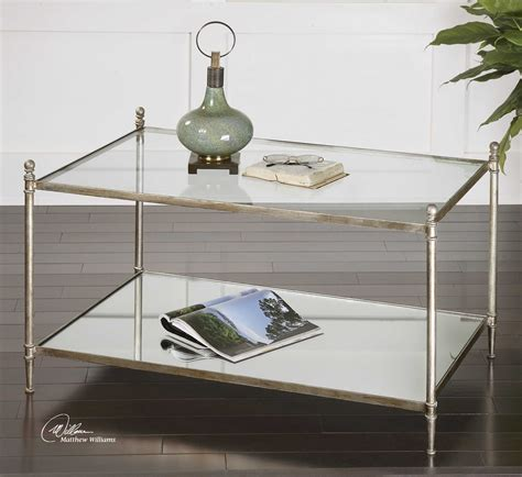 Uttermost Glass Coffee Tables by Uttermost Gannon 36 X 23 Rectangular Mirrored Glass Coffee
