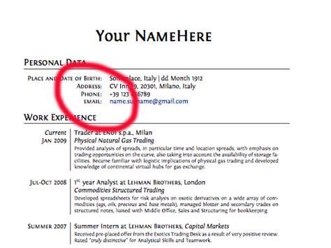 My Resume Contact Number by 15 Things You Should Never Put On Your Resume Business