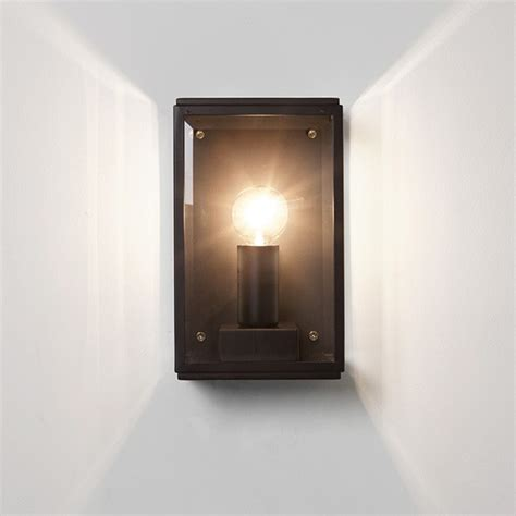 astro homefield 130 black outdoor wall light at uk electrical supplies