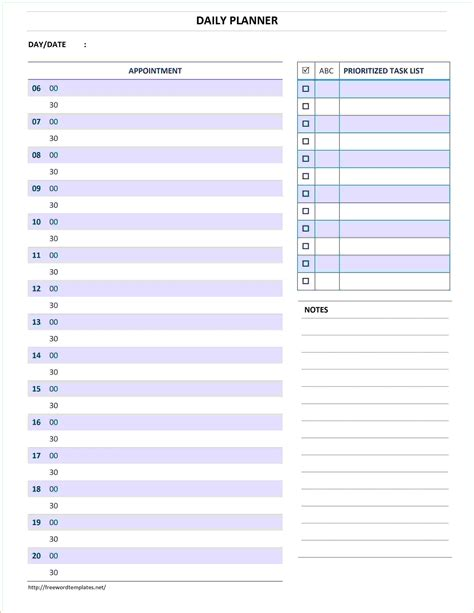 daily schedule template word 5 daily planner template word teknoswitch