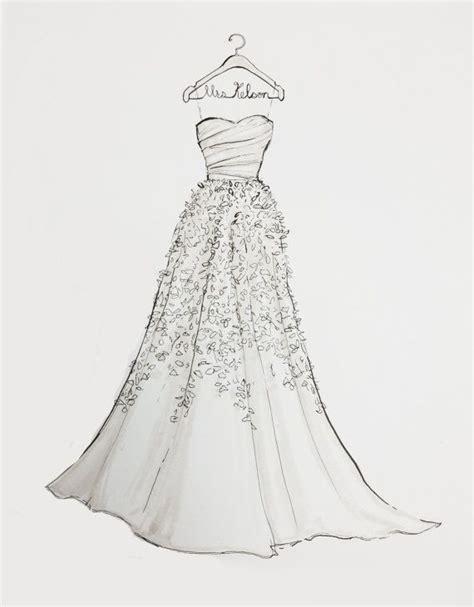 wedding dress sketches images  pinterest custom