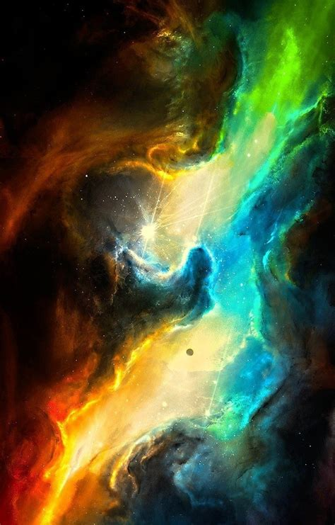 beautiful galaxy nebula colors universe nasa hubble