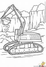 Coloring Excavator Printable Pages Digger Print Construction Excavators Truck Bulldozer Boyama Backhoe Sayfaları Template Colouring Alphabet Tractor Trucks Website Printables sketch template