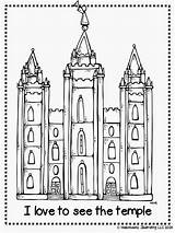 Lds Temple Coloring Melonheadz Drawing Salt Lake Clipart Primary Church Printable Temples Conference Illustrating Sheets Activity Nursery Colouring Clip Children sketch template