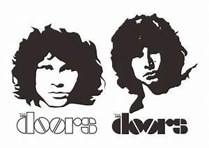 Jim Morrison The Doors Logo Vector ~ Format Cdr, Ai, Eps ...