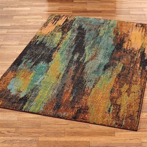 oxidation multicolored abstract area rugs