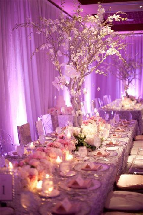 shabby chic wedding reception table decor elegant purple pink and white decor decoration ideas pinterest receptions wedding and