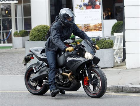 Photos Of Orlando Bloom Riding His Motorcycle In London