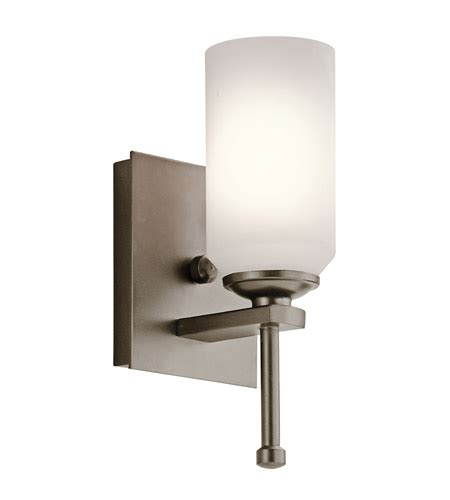 kichler lighting ladero 1 light wall sconce in shadow