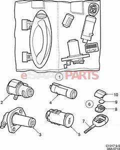 5189758 saab lock cylinder genuine saab parts from With saab key diagram