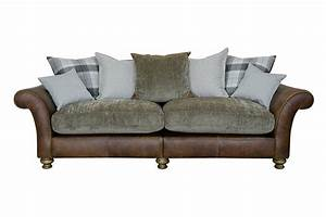 Alexander james lawrence 4 seater pillow back sofa for Perez 4 seater pillow back sectional sofa
