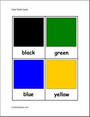 Flashcards Colors (elementary)  Color Abcteach