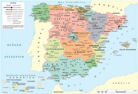 Carte D Espagne Avec Villes by Carte De L Espagne Avec Les R 233 Gions Les Villes Les
