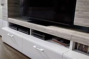 Moebel Guenstig24 : wohnwand spirit wohnzimmer set vitrine h ngeregal wandboard tv regal wei led ebay ~ Eleganceandgraceweddings.com Haus und Dekorationen