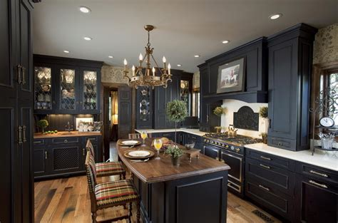 Elegant Black Kitchen Design  Kitchen Cabinets