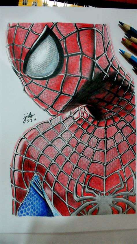 amazing spider man  color pencil drawing  mjforyou