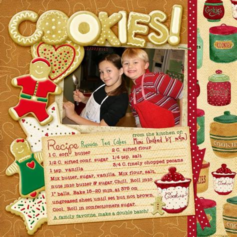 scrapbooking cuisine cookies digital scrapbooking layout also free