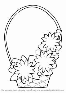 Learn How to Draw Flowers Basket for Kids (Flowers) Step ...