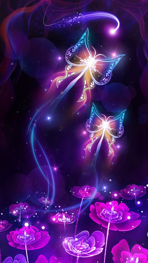 black live wallpapers android purple butterflies wallpaper 58 images