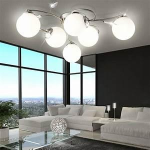 Deckenlampe Für Wohnzimmer : wohnzimmer esszimmer decken leuchte lampe 6 flammig deckenlampe deckenleuchte ebay ~ Frokenaadalensverden.com Haus und Dekorationen