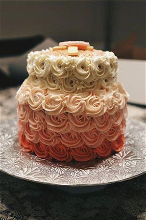 pink ombre rose cake crumbs  tea