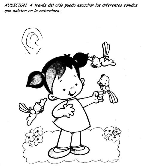 Dibujos de los 5 sentidos para colorear Imagui