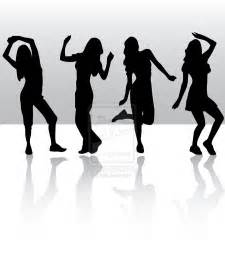 Zumba Dancing Silhouette Clip Art Group