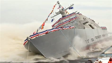 Us Navy Launches New Warship  Cnn Video