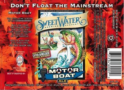Motorboat Beer by Motorboat Esb Sweetwater Brewery Craft Beer Review