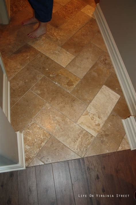 herringbone travertine tile my dream home life on virginia street