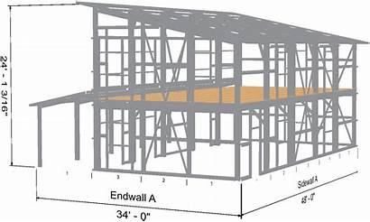 Slope Single Roof Steel Cabin Kit Shell