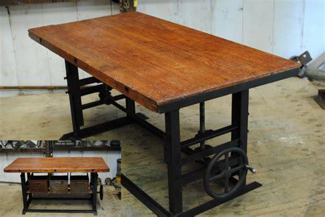 antique  crank tablebarkitchen island