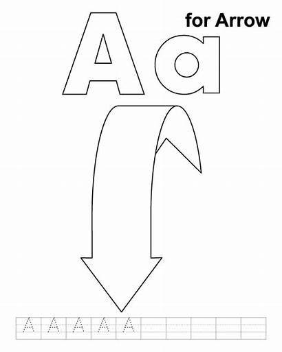 Arrow Coloring Pages Printable Handwriting Cw Practice