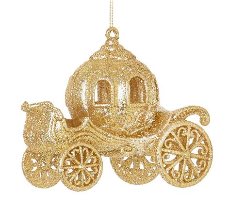 gold cinderella carriage hanging christmas tree