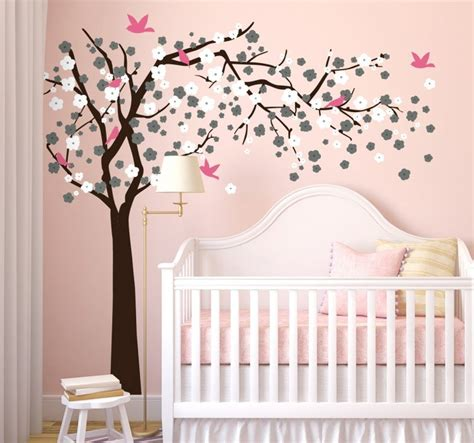 stickers chambre bébé leroy merlin blossom tree with birds sticker tenstickers
