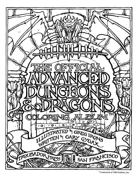 dungeons and dragons coloring book brains the official advanced dungeons and dragons