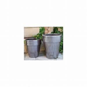 Pot En Terre Cuite émaillée : pot en terre cuite maill e dallas inox d39 h47 ~ Dailycaller-alerts.com Idées de Décoration