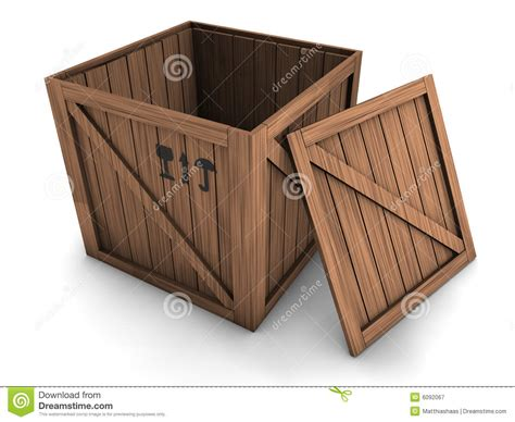 crate  open lid stock illustration illustration