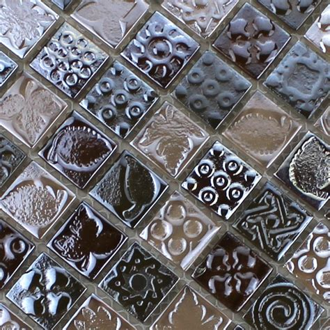 12x12 Mirror Tiles Canada by Glass Mosaic Tiles Melted Backsplash Tile