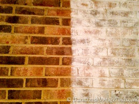 whitewash brick farm fresh vintage finds