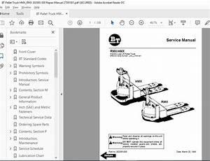 Bt Pallet Truck Hmx Rmx 302065-000 Repair Manual 27091001 - Homepage