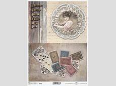 Papier ryżowy decoupage R1032 karty do gry, ruletka