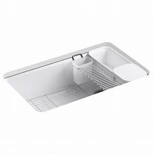 Kohler Riverby U00ae Undermount Cast Iron Kitchen Sink K