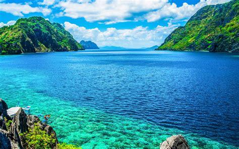palawan philippines  scenic view   sea  mountain
