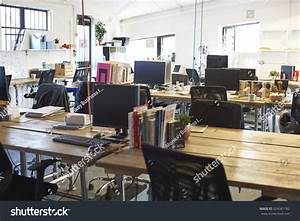 Interior Modern Design Office No People Stock Photo ...
