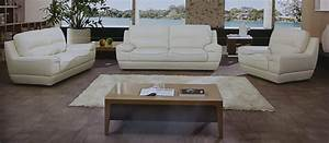 dado 3 piece italian top grain off white leather sofa set With 3 piece white sectional sofa