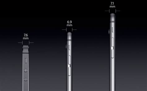iphone 6 thickness apple s new iphone 6 comes in two sizes