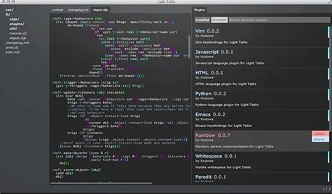 Light Table Ide by Light Table A Free Yet Powerful Open Source Code Editor