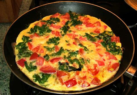 recettes de cuisine de noel omelette au kale et aux tomates ma cuisine santé