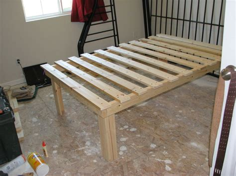 Platform Bed Cheap by Cheap Easy Low Waste Platform Bed Plans